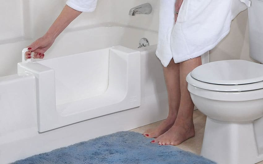 Walk In Bathtub with Door